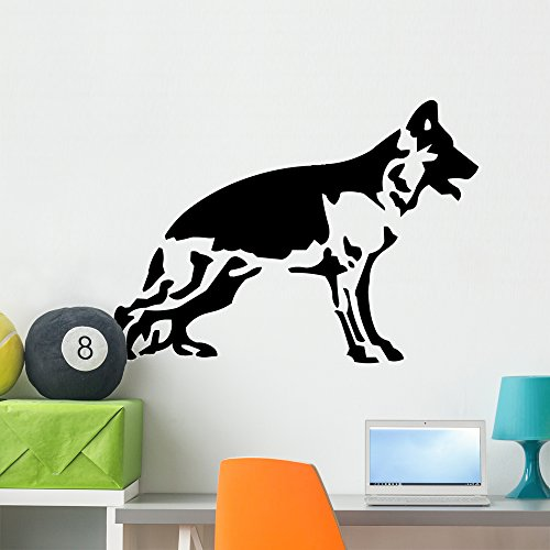 Wallmonkeys Cane Pastore Tedesco Wall Decal Peel and Stick Graphic WM255460 (36 in W x 27 in H)