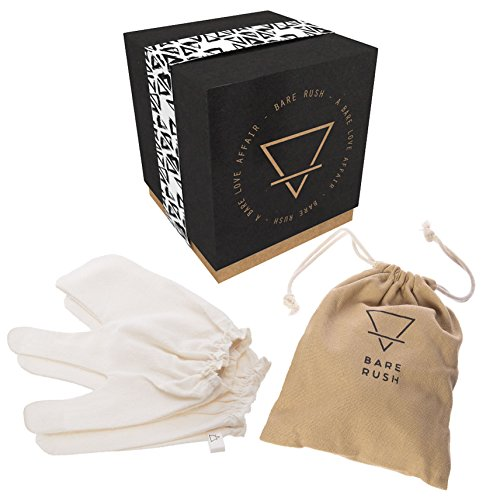 Bare Rush Garshana Gloves 100% Raw Silk Massage Gloves Ideal for Ayurvedic Massage, Dry Skin Brushing, Exfoliation, Cellulite Reduction, Unclogging Pores, Stimulating Your Lymphatic System