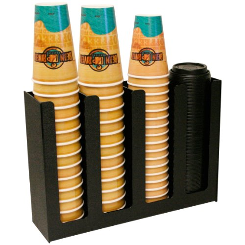 Coffee Cups and Lid Holder 4 Columns. Proudly Made by PPM is the USA! by Plastic & Products Marketing PPM