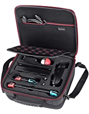 Smatree Carrying Case Compatible for Nintendo Switch, Hard Case Fit for Switch Pro Controller/Ultimate Edition Pro Controller