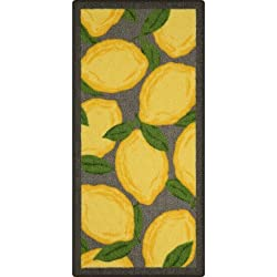 "Lemon Kitchen Rug with Latex backing, 1'8""x3'6"""
