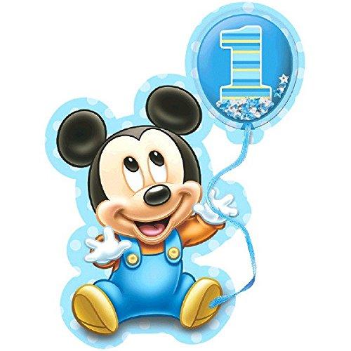 Amscan Disney Baby Mickey's 1St Birthday Deluxe Jumbo Postcard Invitation (8 Piece), 8