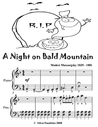 A Night On Bald Mountain Easy Piano Sheet Music Tadpole Edition -