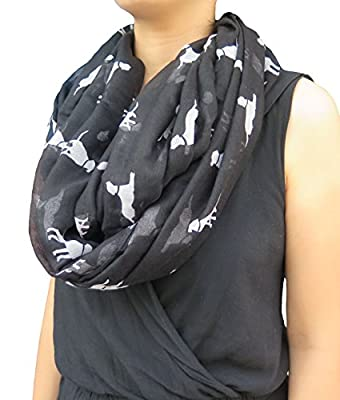 Lina & Lily Labrador Dog Print Women's Infinity Scarf Lightweight