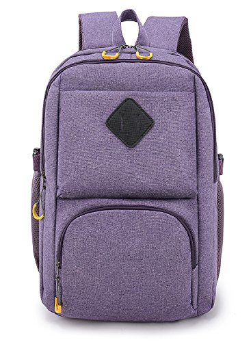 Weekend Shopper Lightweight Laptop Backpack College Backpack Bookbags for Women and Man Fit up to 17 inch Laptop Purple (Stylish Bookbags)