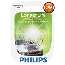 Philips 12961 LongerLife Miniature Bulb, 2 Pack