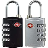 Hooray! Service TSA Lock - 4 Digit Combination For Travel Safety and Security Environmentally Friendly Luggage Lock-2 Pack