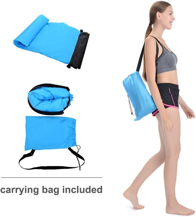Blue Bry Inflatable Lounger Air Chair Sofa Bed Lazy Bag Sofa Been Sleeping Sand Beach Lay Bag Couch