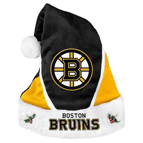 Boston Bruins Santa Hat - Colorblock 2014 - Licensed NHL Hockey Merchandise