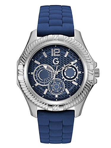 G-by-GUESS-Mens-Blue-and-Silver-Tone-Watch