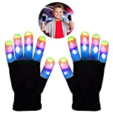My-My Fun Toys for 3-10 Years Old Boys, Flashing Led Light Gloves for Boys Best Kids Birthday Gifts Luminous Gloves Toys for Boys Girls Black MMJSST03