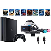 PlayStation VR Deluxe Bundle 12 Items:VR Start Bundle,PS4 Pro 1TB,8 VR Game Disc Rush of Blood,Valkyrie,Battlezone,Batman,DriveClub,Eagle, RIGS,Resident Evil 7:Biohazard(US Version, Imported)