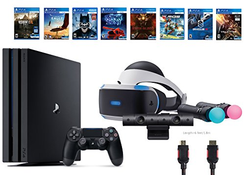 PlayStation-VR-Deluxe-Bundle-12-ItemsVR-Start-BundlePS4-Pro-1TB8-VR-Game-Disc-Rush-of-BloodValkyrieBattlezoneBatmanDriveClubEagle-RIGSResident-Evil-7Biohazard