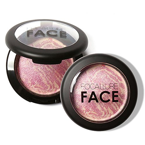 PEPECARE Baked Blush Natural Glow Shimmer Blusher Face Contour Powder Makeup Palette (A)