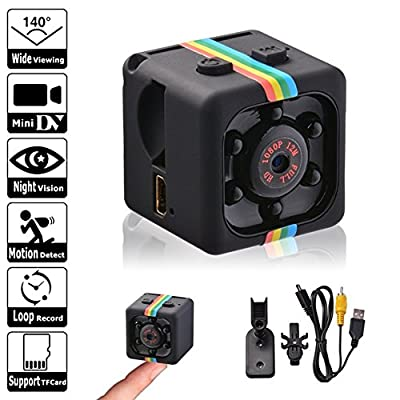 Hidden Camera, Spy camera 1080P Mini Security Wireless cam with night vision, Video Recorder for Nanny/Housekeeper, Sports Action Cam with Motion Detection for Home, Car, Drone, Office and Outdoor Use