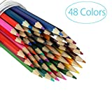 Colored Pencils for Adults Coloring Books Drawing Pencils Artist Set with Paintbrush (Pack of 48)
