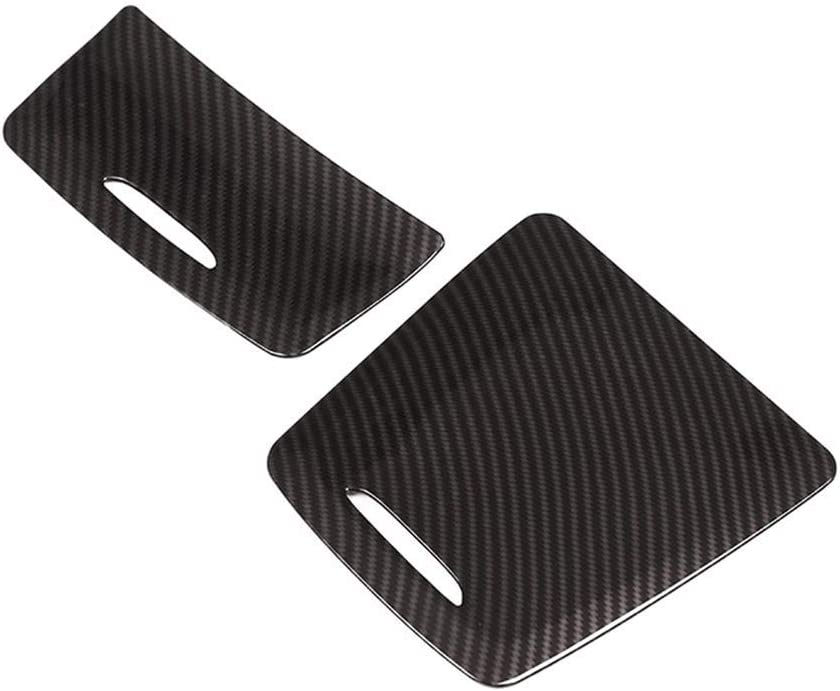 YIWANG Carbon Fiber Style ABS Center Storage Box Panel Trim Ashtray Cover 2pcs For Benz CLA GLA A Class W117 W176 A180 2014-2017