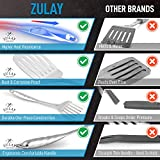 Zulay 14.8 inch Slotted Turner Metal Spatula