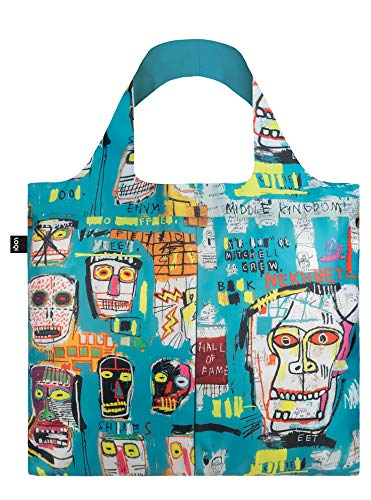 LOQI JB.SK Museum Jean Michel Basquiat Reusable Shopping Bag, One Size, Skull