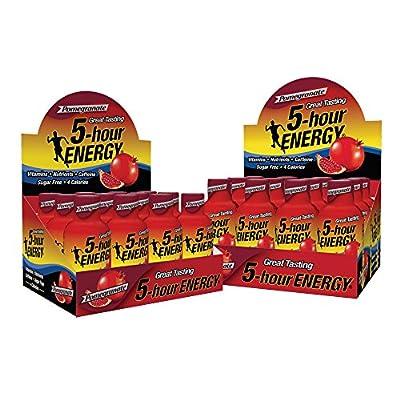Regular Strength 5-hour ENERGY Shots – Pomegranate – 24 Count