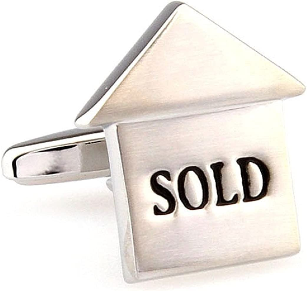 MRCUFF Realtor Sold Pair Cufflinks in a Presentation Gift Box & Polishing Cloth
