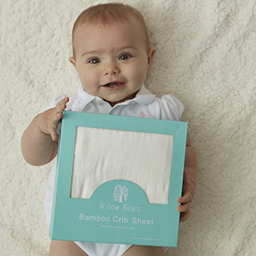 Softest Crib Sheet by Willow Beans - 70% Bamboo 30% Cotton ()
