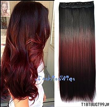 Amazon Com Black To Burgundy To Reddish Brown Three Colors Ombre