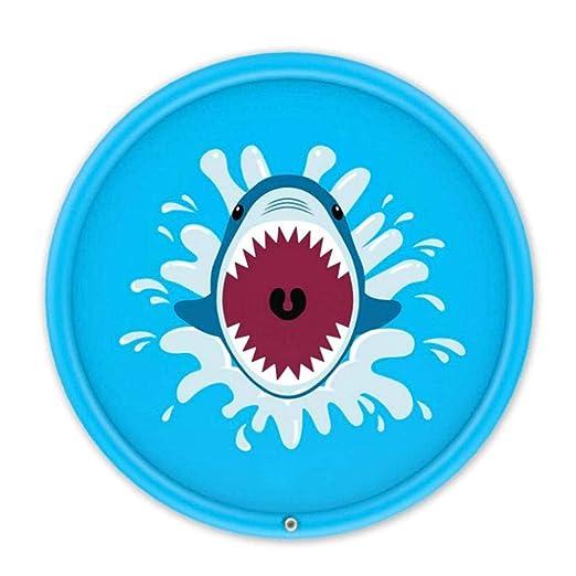 Faviye - Alfombra Hinchable de 170 cm para Juegos de Agua, tiburón ...