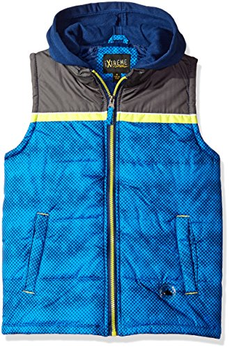Ixtreme Little Boys Stamp Print Puffer Vest  Navy  4