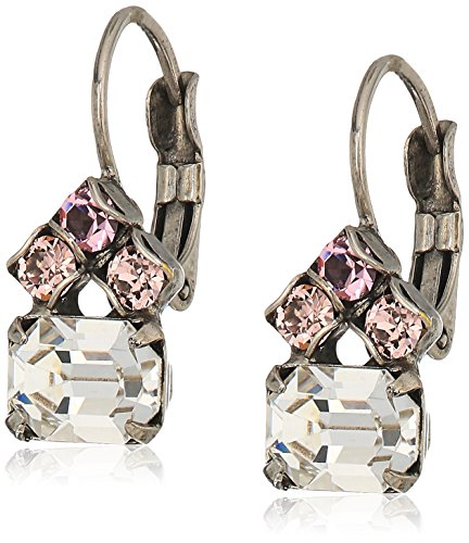 Sorrelli Crystal Rose Petite Round and Octagon Crystal Drop Earrings