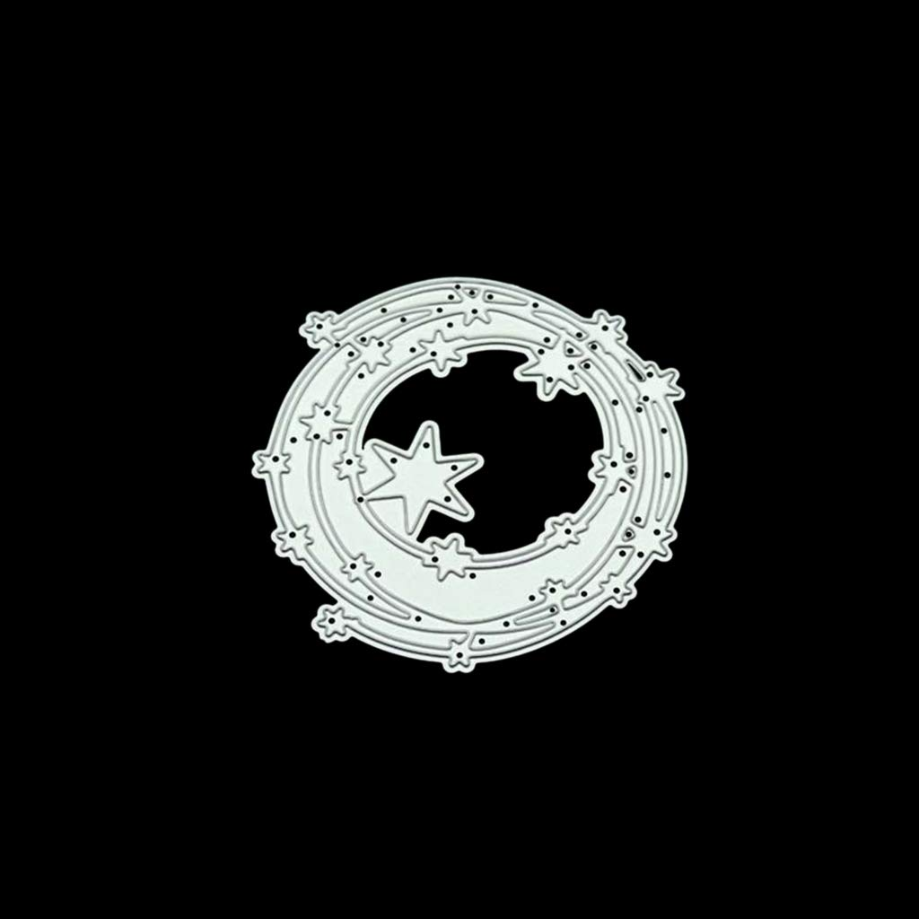 FATTERYU Estrella C/írculo DIY Troqueles de Corte de Metal Plantilla Scrapbooking /Álbum de Fotos Sello Tarjeta de Papel Artesan/ía Decoraciones