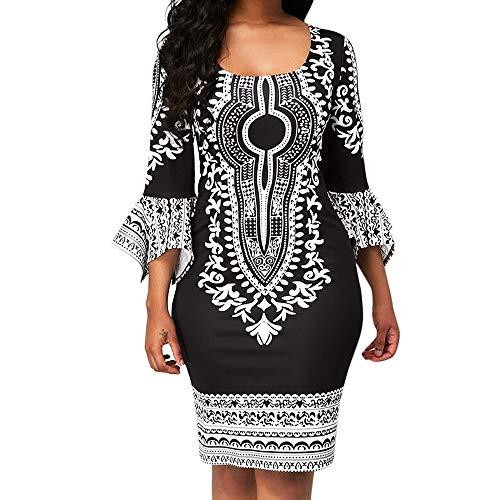 - HITRAS Dress! Women's Fashion Casual Dresses Long Sleeve Ethnic Printed Long Sleeve Mini Dress