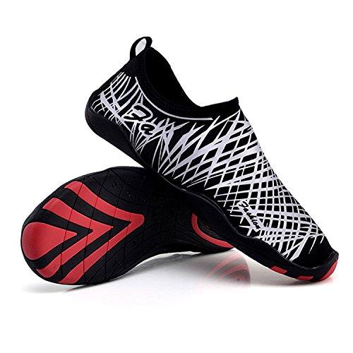 CHNHIRA Unisex Zapatos De Agua Pies Descalzos De Secado Rápido Para Playa Yoga Zapato Deprote Gris