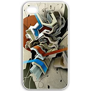 For Apple Iphone 5C Case Cover Customized Gifts Fors 3D Graphics Buildings 3d D White