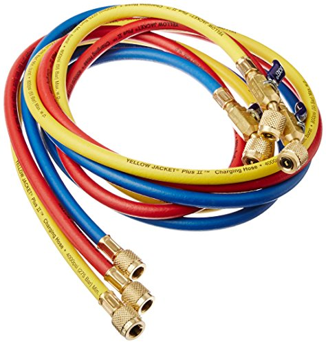 Yellow Jacket 29986 Plus II 1/4'' Hose with Compact Ball Valve, 72'' (Pack of 3) by Yellow Jacket (Image #1)