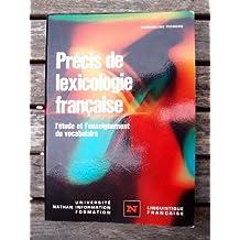 Precis de Lexicologie Francais