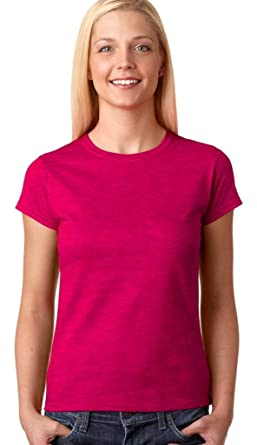 26f84bfd0509ab Gildan Ladies Soft Style Short Sleeve T-Shirt (S) (Antique Heliconia)