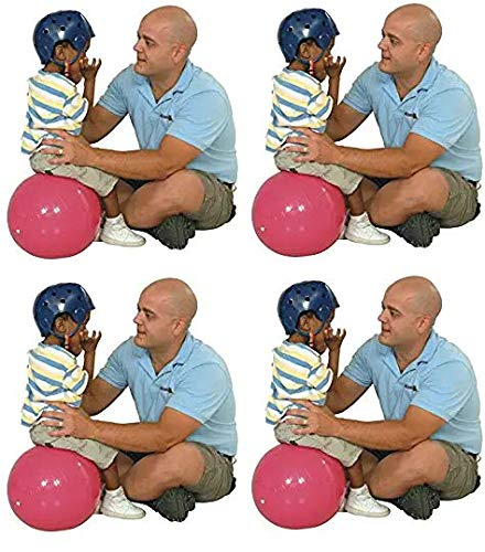 Gymnic Physio Balance Therapy Ball, 12 Inch, Pink, Holds 300 Pounds (Fоur Расk) by Gymnic
