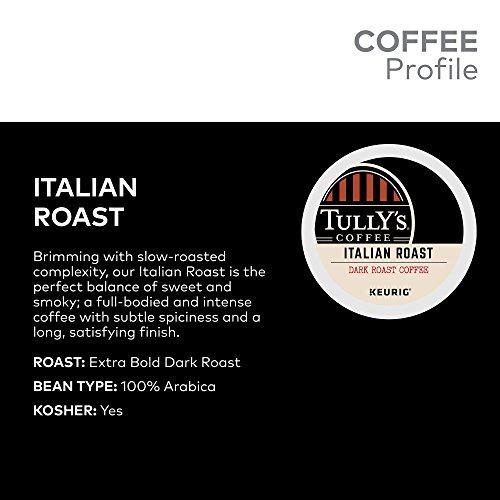 Tully's Coffee, Italian Roast, Single-Serve Keurig K-Cup Pods, Dark Roast Coffee, 72 Count (3 Boxes of 24 Pods) by Keurig (Image #3)