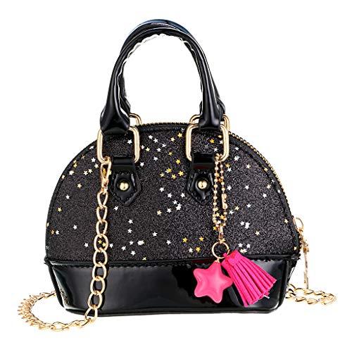 - Hipiwe Little Girls Purses for Kids, Cute Mini Handbags Glitter Princess Style Crossbody Bag Toddler Girls Tiny Shoulder Bags for Kids (Black)