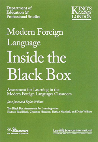 Modern Foreign Languages Inside the Black Box: Assessment for Learning in the Modern Foreign Languages Classroom