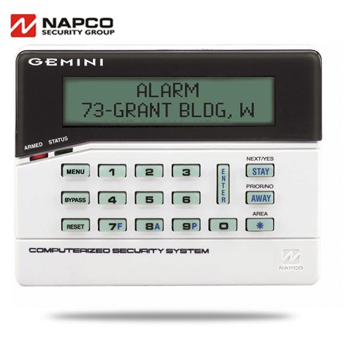 Napco Alarms - Napco GEMK1CA keypad with zone expander built in