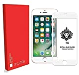 CELLUTION Full Glue Apple iPhone 7 Full Coverage 5D Tempered Glass, Full Edge-to-Edge 5D Screen Protector for Apple iPhone 7 (White)