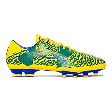 Under Armour Mens UA CF Force 2.0 FG Soccer Cleats (7 D(M) US, Taxi Yellow/Team Royal/Classic Green)