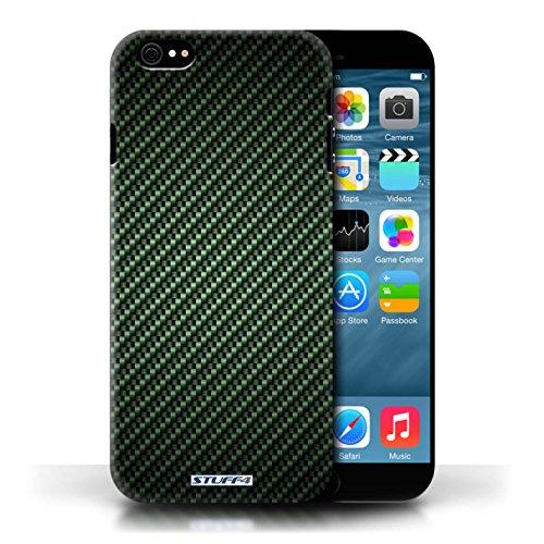 Etui pour Apple iPhone 6/6S / Vert conception / Collection de Motif de Fibre de Carbone