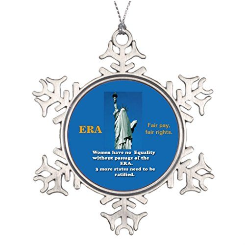 Moc Moc Personalised Christmas Tree Decoration ERA Equal Rights Amendment for all. Small Snowflake Ornaments Personalised Christmas Snowflake Ornaments