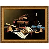 Design Toscano Music and Literature, 1878 Canvas Replica Painting: Small