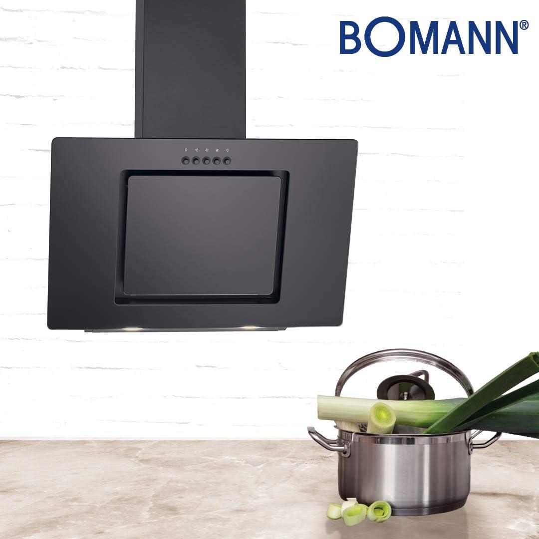 Bomann DU 7602 G - Campana extractora vertical (60 cm de ancho, eficiencia energética B, 3 niveles de potencia, iluminación LED): Amazon.es: Grandes electrodomésticos