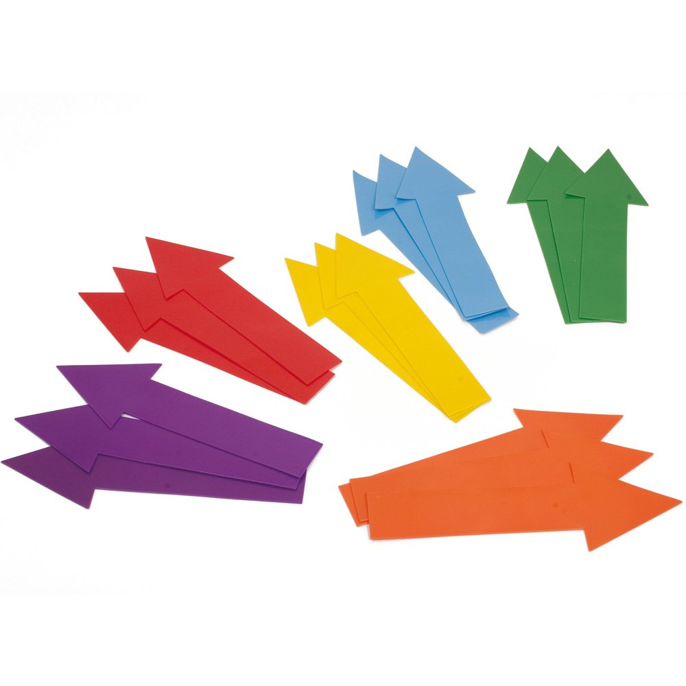 Kids Learning Activity Floor Games Directional Arrows Marker Set Of 18 Assorted Colour by Sportsgear US
