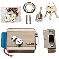TPEKKA Electronic Release Door Lock DC 12V for Access Control Security System Wooden Glass Metal Fireproof Door Video Door Phone